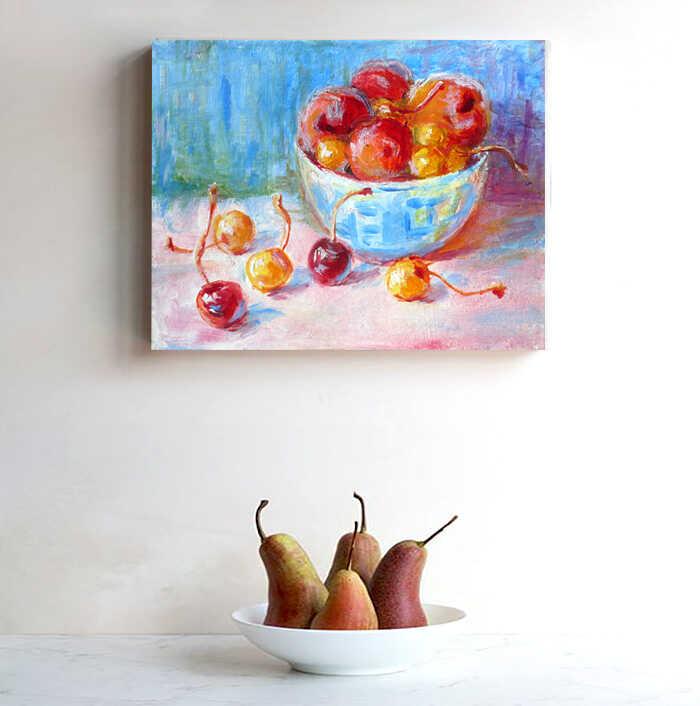 натюрморт с фруктами холст масло купить недорого