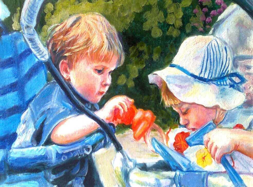 портрет детей по фото на заказ