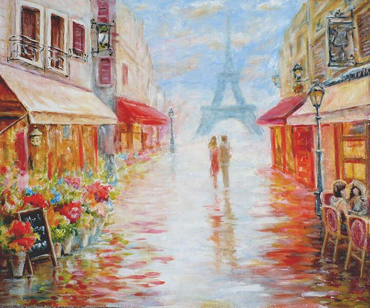 городской пейзаж Париж двое