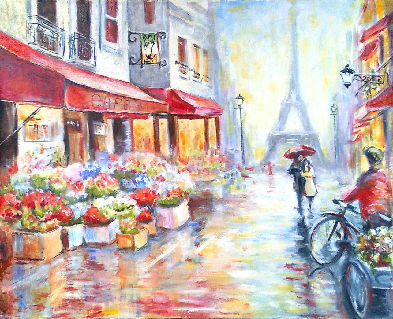 картина Париж для влюбленных