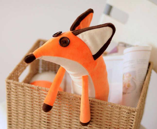 купить на aliexpress мягкие игрушки милая смешная лиса в корзинке