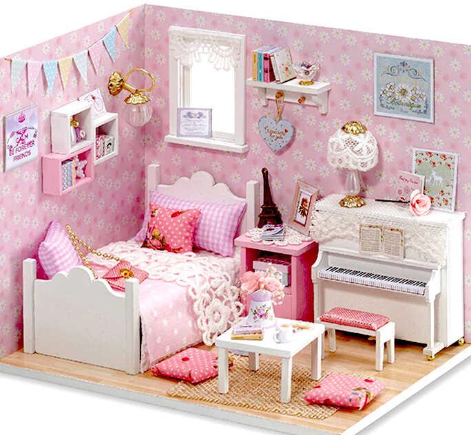 купить розовый кукольный домик