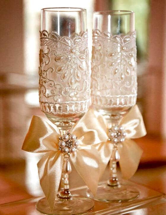Свадебные фужеры для шампанского