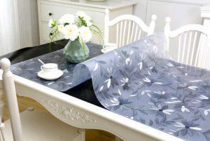 Прозрачная скатерть из мягкого стекла